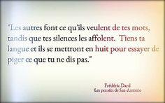 """Frédéric Dard """"Les pensées de San-Antonio"""" lol mais c difficile! New Quotes, Quotes For Him, Happy Quotes, Words Quotes, Love Quotes, Funny Quotes, Inspirational Quotes, Citation Distance, Citation Silence"""