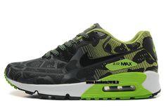 Nike Air Max 90 Nike Officiel Chaussures De Running Pour Homme Vert - Noir - Blanc