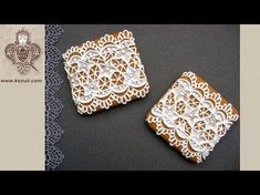 Lace cookies with royal icing. Gift for Mother's Day. Cookie decorating with royal icing. - YouTube