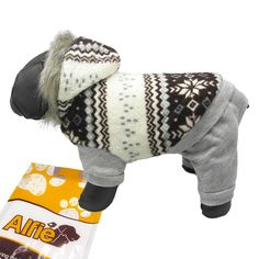 Alfie Pet by Petoga Couture - Nova Hooded Jumper ** Find out more details by clicking the image : dog clothes