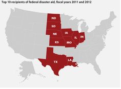 The states that get the most natural disaster aid sent 47 climate-change deniers to Congress