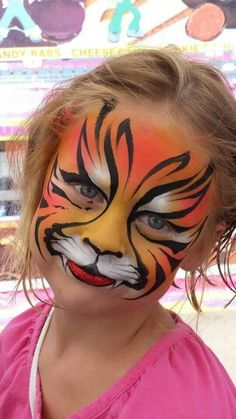 easy body painting 40 Easy Tiger Face Painting Ideas for Fun - Bored Art Girl Face Painting, Face Painting Designs, Painting For Kids, Paint Designs, Painting Art, Animal Face Paintings, Animal Faces, Tiger Face Paints, Tiger Face Paint Easy