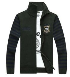 Free shipping Men Sweater 2017 Autumn Winter Fashion Men's Knitted Zipper Cardigan Sweaters Men's Outerwear 98hfx