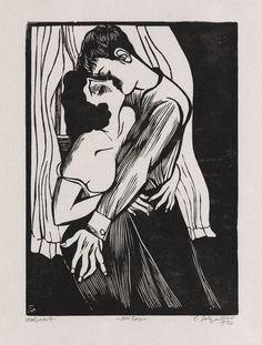 Conrad Felixmüller - Der Kuss, 1930