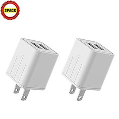 Wall Charger, 4.2A 21W Dual USB Universal Portable Charger with Smart Technology, for iPhone 7 6/6S Plus, 5/5S, iPad Pro, Galaxy S7, S6 Edge Plus, S5, Nexus, HTC & more [2-PACK]  http://topcellulardeals.com/product/wall-charger-4-2a-21w-dual-usb-universal-portable-charger-with-smart-technology-for-iphone-7-66s-plus-55s-ipad-pro-galaxy-s7-s6-edge-plus-s5-nexus-htc-more/?attribute_pa_color=2-pack  YUNSONG 4.2A 21W Dual Port Universal USB Wall Charger can rapid Charge you iP