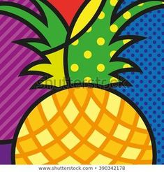 Find Pop Art Pineapple Colorful Ananas Fruit stock images in HD and millions of other royalty-free stock photos, illustrations and vectors in the Shutterstock collection. Thousands of new, high-quality pictures added every day. Pop Art Artists, Famous Artists, Pop Art Food, Art Drawings For Kids, Diy Canvas Art, Art Plastique, Diy Painting, Painting Abstract, Modern Art