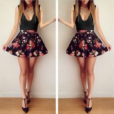 V-Neck Sleeveless Patchwork Floral Short Slim Dress