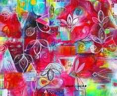 Root Chakra Original Acrylic Painting on by JenniferCurrieArt