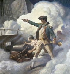 """John Paul Jones,a Scottish sailor was the first naval fighter in the American Revolution .sometimes referred to as the father of the U.S. Navy.His well known statement is """"I have just begun to Fight"""""""