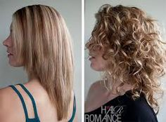 curly hair v cut - Google Search