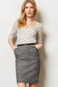 Dottie Top #anthropologie - Looks super flattering. Good for #work outfit