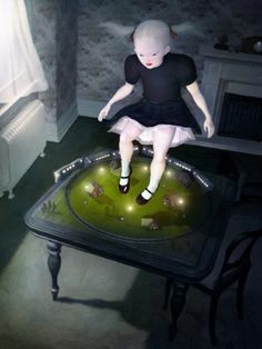 Beautiful art from Ray Caesar. His stuff is amazing and and dark and beautiful.