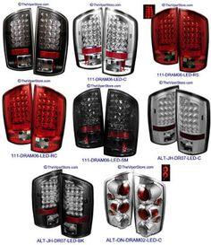 Dodge RAM Headlight accessories and Parts Dodge Ram 1500 Accessories, Ram Accessories, Vehicle Accessories, Led Tail Lights, Car Lights, Black Headlights, Luz Led, Viper, Truck