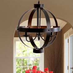 Catalina Lighting 3 Light Candle Chandelier | $117 Over dining room table or in Entryway