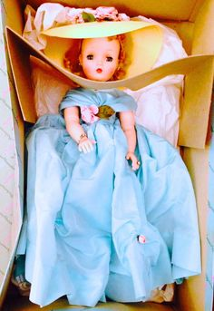 "1957 Madame Alexander Cissy Doll 20"" IN BOX #2175 Lady Hamilton ALL ORIGINAL #DollswithClothingAccessories"