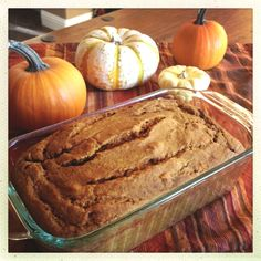 """My Pumpkin Apple Spice Bread ~ delish. Pinner said, """" I used HALF the sugar of most recipes and doubled up on applesauce and fresh chopped apple. YUMMY and very moist :) """" Here's the Recipe: http://nancynewcomer.com/2012/10/29/pumpkin-apple-spice-bread/"""