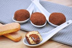 Truffle of tiramisu with the NUTELLA heart to die for ,by Antonella V. Mini Desserts, Cookie Desserts, Cupcake Cookies, No Bake Desserts, Nutella Recipes, Chocolate Recipes, Cake Recipes, Dessert Recipes, Fingerfood Party