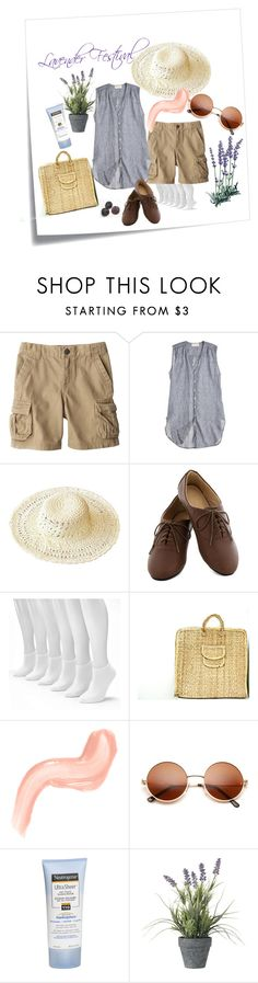 """""""Lavender Festival"""" by mmhaber ❤ liked on Polyvore featuring Post-It, CP Shades, Sonoma life + style, Neutrogena, OKA, endlesssummer and WardrobeStaples"""