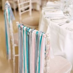 Whimsical chair ribbons for easy-to-DIY decor!