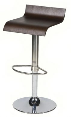 MIX BAR STOOL:  Pairs up perfectly with our Mix Bar Table, featuring the same high polish frame and circular base, as well as providing a comfortable sit with its circular foot rest and adjustable seat height