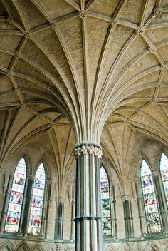 Lincoln Cathedral Chapter House, England. From the Illustrated Dictionary of British Churches