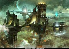 Floating City by *TheRafa on deviantART