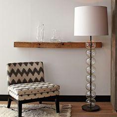 Abacus Floor Lamp #WestElm- Large White VASE - Side table w Books