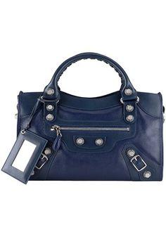 grand city meduim leather blue bag $89