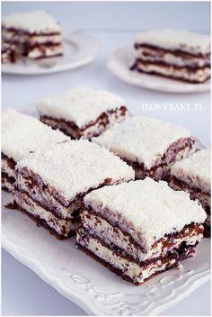 Ciasto princessa zebra - I Love Bake Tiramisu, Snacks, Baking, My Love, Cake, Ethnic Recipes, Impreza, Drink, Gastronomia