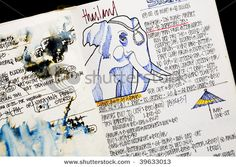 Travel Journal. Travel, journal, sketchbook, notebook, dairy, words and images, drawing.