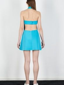new lace ideas - the back is good too  Blue Summer Dress | NOT JUST A LABEL