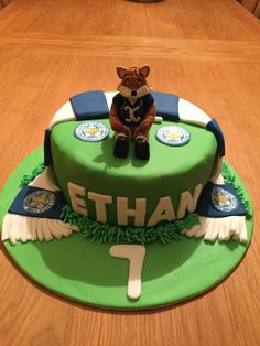 Leicester city football club birthday cake lcfc Leicester City