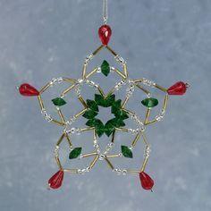 crochet covered christmas ornament | Crystal Slider and Seed Bead Ornament cover – Sova-Enterprises.com