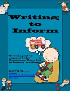 This Writing to Inform (All About Books) unit of study written by Trina Dralus is complete with activities for each phase of writing. This unit reflects the nonfiction ELA standards. ($5.00)