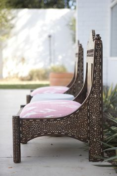 poolside seating  photography by http://pinterest.com/heatherhawkin/