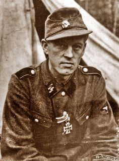 """This is Arild Hamsun, son of Norway's pre-eminent, world known writer and Nobel Prize winner Knut Hamsun. He was a volunteer of 5. Waffen SS Division """"Viking"""". He is pictured here after having been decorated with the Iron Cross, 2nd class for bravery under fire. The photo was taken in October 1943 in Russia."""