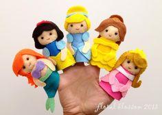 Disney Princess Felt Finger Puppets pattern