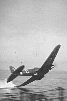 Heinkel He 111 hitting the drink