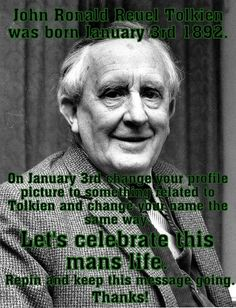 Happy Birthday to Tolkien! The writer of the most Awesome Series EVER! ~ :)