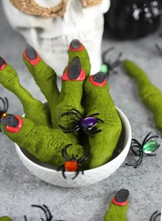 Super easy Witch Finger Shortbread Cookies are a fun and easy Halloween treat you can make in advance for any party or celebration. Simple and quick! Easy Halloween, Halloween Treats, Witch Finger Cookies, Witches Fingers, Black Food Coloring, Cookie Icing, Shortbread Cookies, Pumpkin Recipes, Treat Yourself