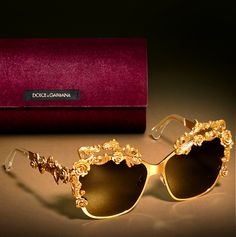 Dolce & Gabbana Women Sunglasses Eyewear – Baroque Details in Antique Gold for the Sicilian Baroque Luxury Fall Winter 2013 Special Collection PD Ray Ban Sunglasses Sale, Sunglasses Outlet, Sunglasses Online, Sunglasses Case, Sunglasses Women, Sunnies, Sunglasses 2016, Sports Sunglasses, Flower Sunglasses
