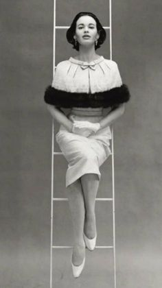 Mainbocher. Gloria Vanderbilt by Richard Avedon 1955.