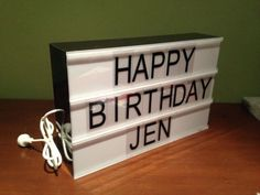 cinematic changeable letter light box