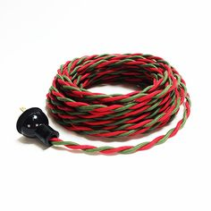Red and Green Cotton Cloth Covered Twisted Pair Wire