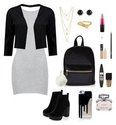 BACK TO SCHOOL #2 by lunahere on Polyvore featuring Boohoo, New Look, ChloBo, Irene Neuwirth, Charlotte Russe, MAC Cosmetics, Maybelline, NYX and Gucci