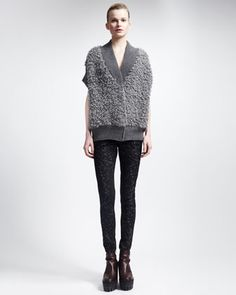 Fall 2013 Stella McCartney | Button-Front Vest & Skinny Miracle Jeans
