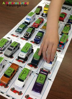 Free ABC parking lot. Fun alphabet game or literacy center!