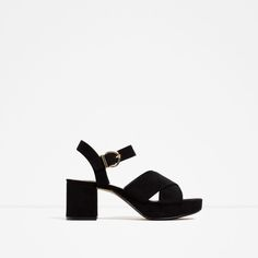 Image 1 of CROSSOVER SANDALS WITH HEEL from Zara