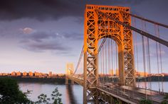 Нью-Джерси, США, мост Джорджа Вашингтона