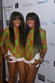 The DPiper Twins, Danielle & Chantelle Dwomoh-Piper are New York-born identical twin fashion models and designers, whose roots are Ghanaian and Caribbean. They are graduates of Fashion Industries High School as well as the Fashion Institute of Technology where they received their bachelor's degrees.